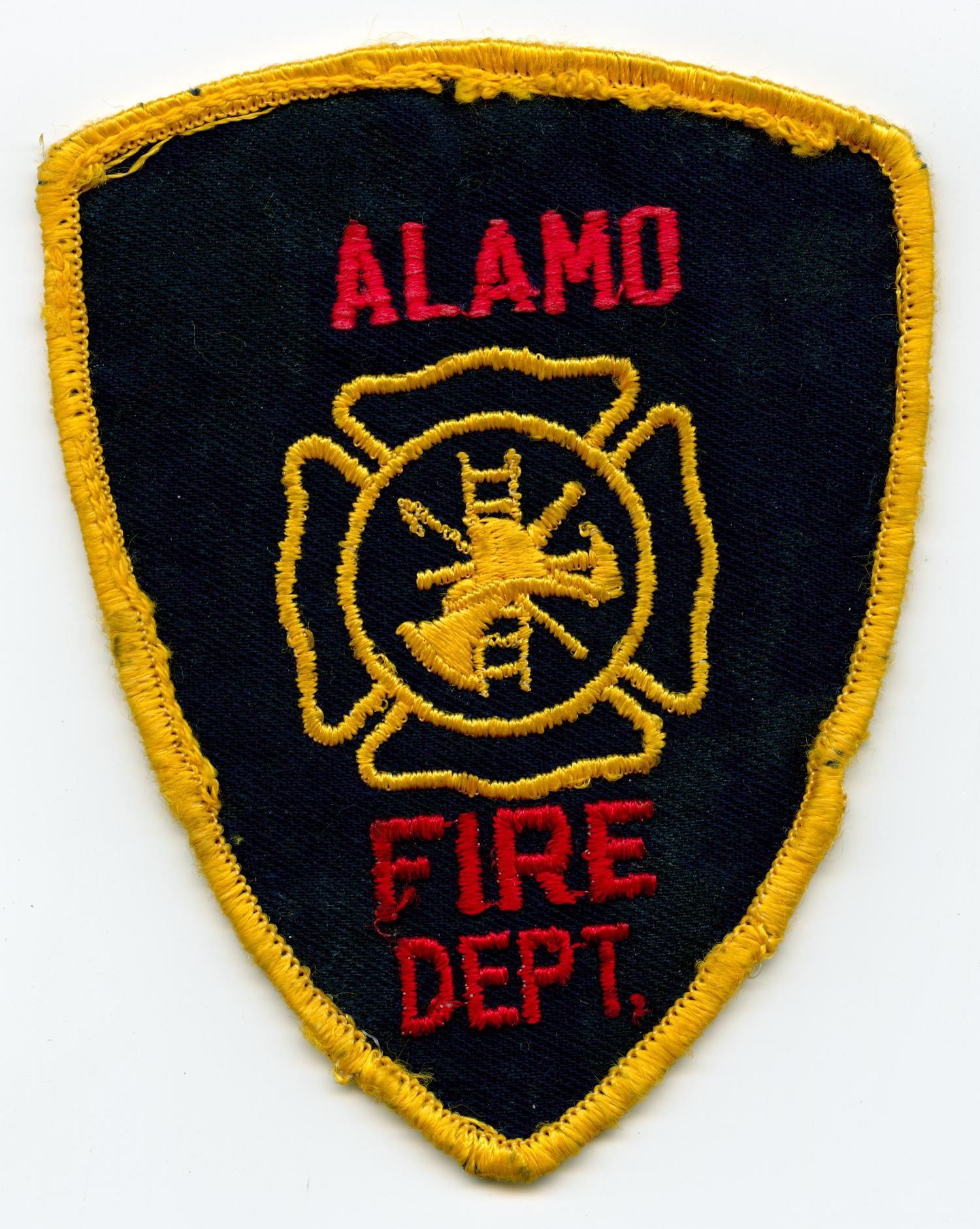 "Muldoon  fire dept. fire patch Texas 4/"" x 4/"" size"