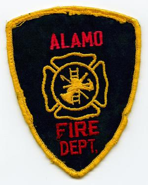 Primary view of object titled '[Alamo, Texas Fire Department Patch]'.
