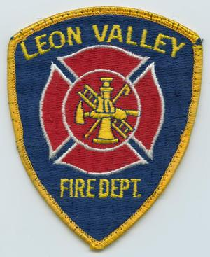 Primary view of object titled '[Leon Valley, Texas Fire Department Patch]'.