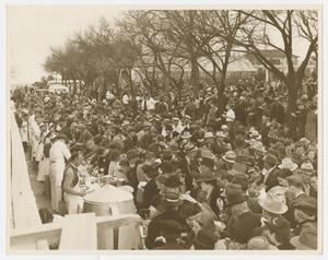 Primary view of object titled '[Crowds at Inaugural Barbecue]'.