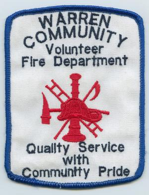 Primary view of object titled '[Warren, Texas Volunteer Fire Department Patch]'.