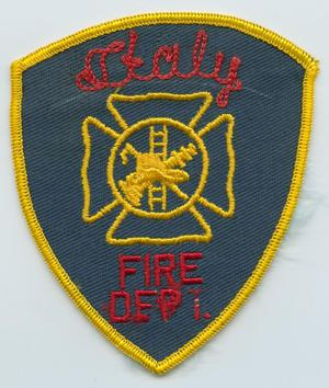 Primary view of object titled '[Italy, Texas Fire Department Patch]'.