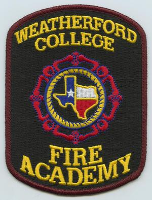 Primary view of object titled '[Weatherford College Fire Academy Patch]'.