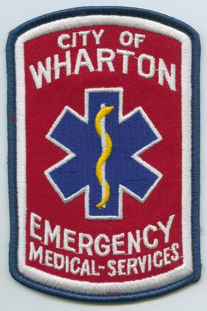 Primary view of object titled '[Wharton, Texas Emergency Medical Services Patch]'.