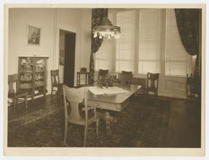 [Dining Room in the Governor's Mansion]
