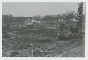 Primary view of object titled '[Construction Site at Cistercian Preparatory School]'.