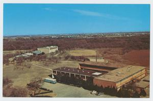 Primary view of object titled '[Aerial View of Cistercian Preparatory School on Postcard]'.