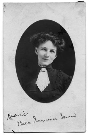 Primary view of object titled 'Postcard of Bess Scrivner Lewis'.