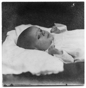 Primary view of object titled 'Portrait of James Scrivner, Jr. at 2 and 1/2 months'.