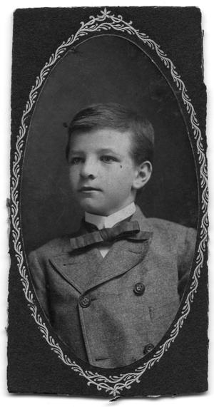 Primary view of object titled 'Portrait of a young Russel Scrivner'.