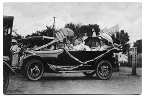 Primary view of object titled '1919 Type 57 Cadillac seated with members of the Scrivner family'.