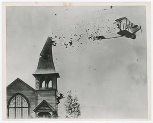 Primary view of object titled '[Airplane crashing into building]'.