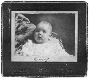 Primary view of object titled 'Portrait of Nancy Scrivner as a baby'.