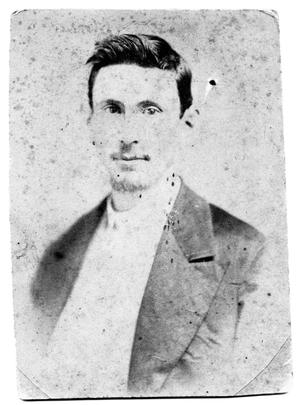 Primary view of object titled 'Portrait of Theo Scrivner Sr. as a young man'.