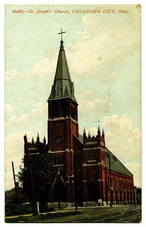 Primary view of object titled 'St. Joseph's Church, Oklahoma City, Okla.'.