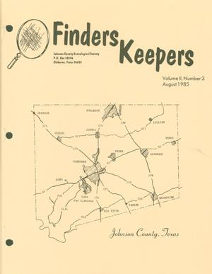 Primary view of object titled 'Finders Keepers, Volume 2, Number 3, August 1985'.