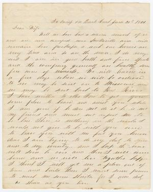 [Letter from Joseph A. Carroll to Celia Carroll, June 20, 1861]
