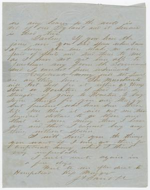 Primary view of object titled '[Last Page from a Letter from Joseph A. Carroll to Celia Carroll]'.