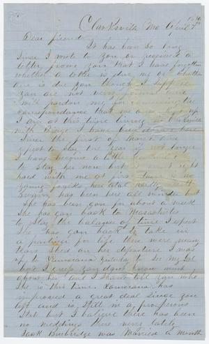 Primary view of object titled '[Letter from Craig Alexander to Joseph A. Carroll, April 7, 1856]'.