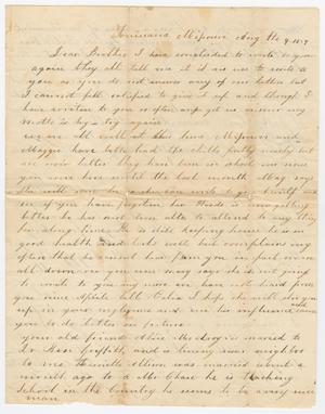 [Letter from Elizabeth C. Pew to Joseph A. Carroll, August 4, 1859]