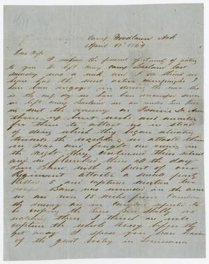[Letter from Joseph A. Carroll to Celia Carroll, April 17, 1864]
