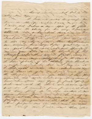 Primary view of object titled '[Letter from Joseph A. Carroll to Celia Carroll, October 18, 1864]'.