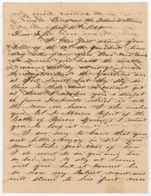 Primary view of object titled '[Letter from Joseph A. Carroll to Celia Carroll, July 18, 1864]'.