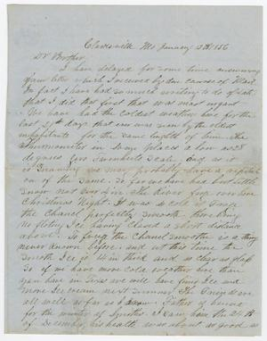 Primary view of object titled '[Letter from Edward B. Carroll to Joseph A. Carroll, January 13, 1856]'.