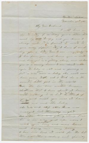 [Letter from Celia Carroll to Joseph A. Carroll, December 28, 1863]