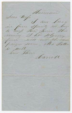 Primary view of object titled '[Letter from Joseph A. Carroll to Celia Carroll]'.