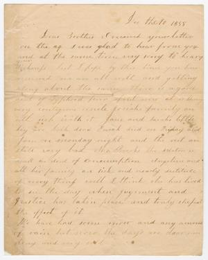 [Letter from Elizabeth C. Pew to Joseph A. Carroll, December 10, 1858]