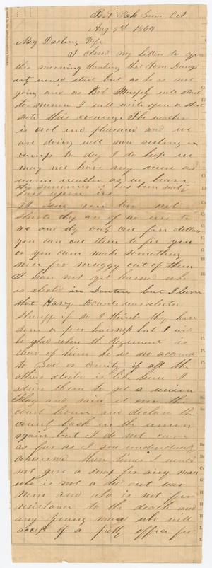 Primary view of object titled '[Letter from Joseph A. Carroll to Celia Carroll, August 3, 1864]'.