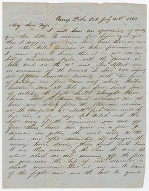 [Letter from Joseph A. Carroll to Celia Carroll, July 21, 1863]