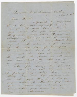 Primary view of object titled '[Letter from Joseph A. Carroll to W. H. Carroll, March 6, 185u]'.