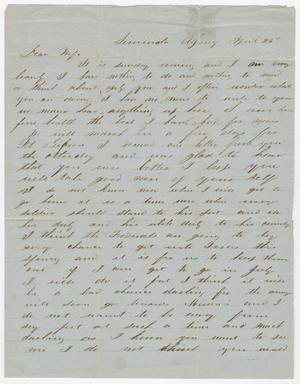 Primary view of object titled '[Letter from Joseph A. Carroll to Celia Carroll, April 26, 186u]'.