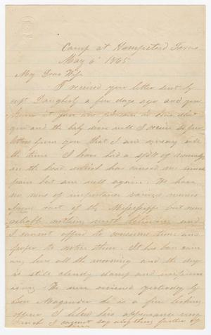 Primary view of object titled '[Letter from Joseph A. Carroll to Celia Carroll, May 6, 1865]'.