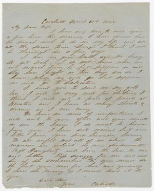 [Letter from Joseph A. Carroll to Celia Carroll, March 30, 1865]