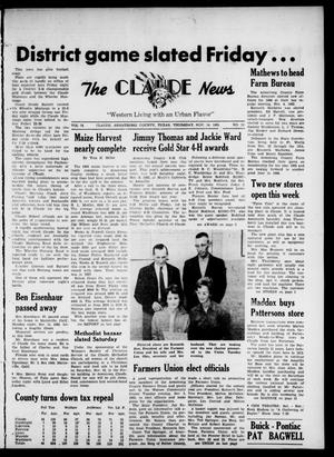 Primary view of object titled 'Claude News (Claude, Tex.), Vol. 74, No. 13, Ed. 1 Thursday, November 14, 1963'.