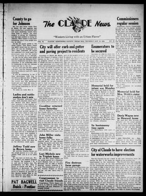 Primary view of object titled 'Claude News (Claude, Tex.), Vol. 75, No. 10, Ed. 1 Thursday, October 22, 1964'.