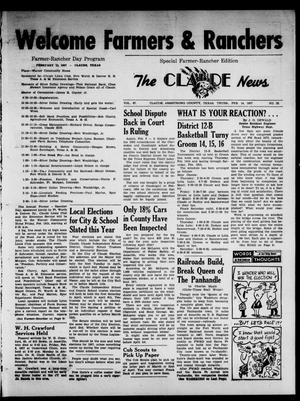 Primary view of object titled 'Claude News (Claude, Tex.), Vol. 67, No. 25, Ed. 1 Thursday, February 14, 1957'.
