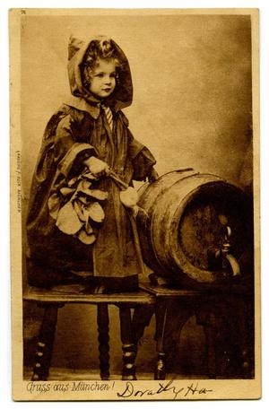 Primary view of object titled '[Girl and Keg]'.