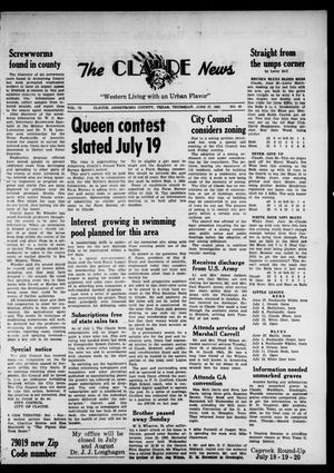 Claude News (Claude, Tex.), Vol. 73, No. 45, Ed. 1 Thursday, June 27, 1963