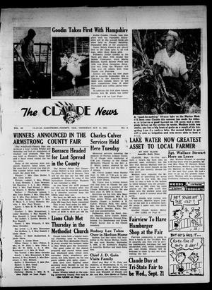Claude News (Claude, Tex.), Vol. 66, No. 3, Ed. 1 Thursday, September 15, 1955