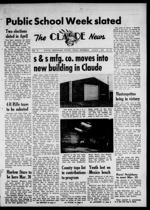 Claude News (Claude, Tex.), Vol. 72, No. 28, Ed. 1 Thursday, March 1, 1962