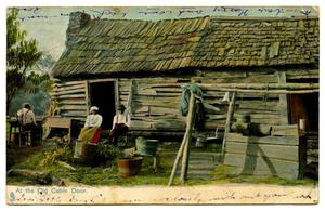 Primary view of object titled 'At the Old Cabin Door'.