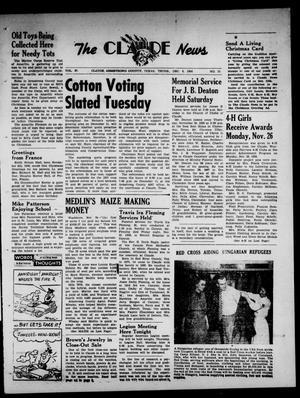Claude News (Claude, Tex.), Vol. 67, No. 15, Ed. 1 Thursday, December 6, 1956