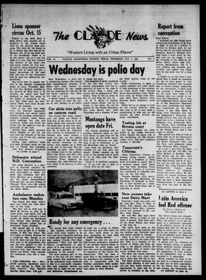 Claude News (Claude, Tex.), Vol. 73, No. 7, Ed. 1 Thursday, October 4, 1962