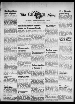 Claude News (Claude, Tex.), Vol. 75, No. 22, Ed. 1 Thursday, January 14, 1965