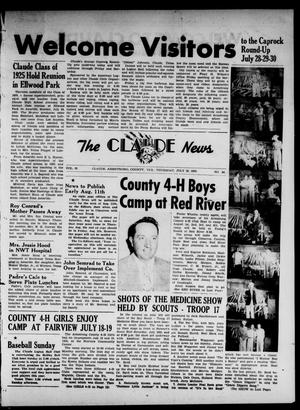 Primary view of object titled 'Claude News (Claude, Tex.), Vol. 65, No. 48, Ed. 1 Thursday, July 28, 1955'.