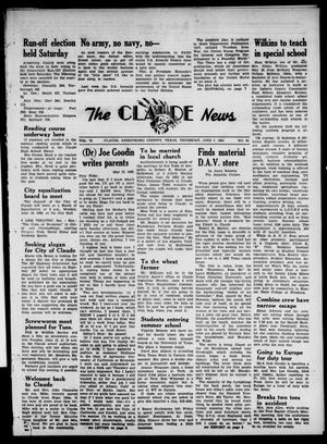 Primary view of object titled 'Claude News (Claude, Tex.), Vol. 72, No. 42, Ed. 1 Thursday, June 7, 1962'.